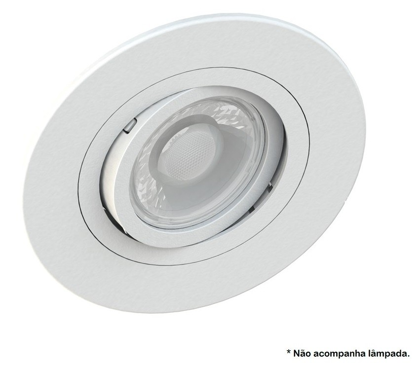 Spot Embutir AR70 Redondo Branco Face Plana