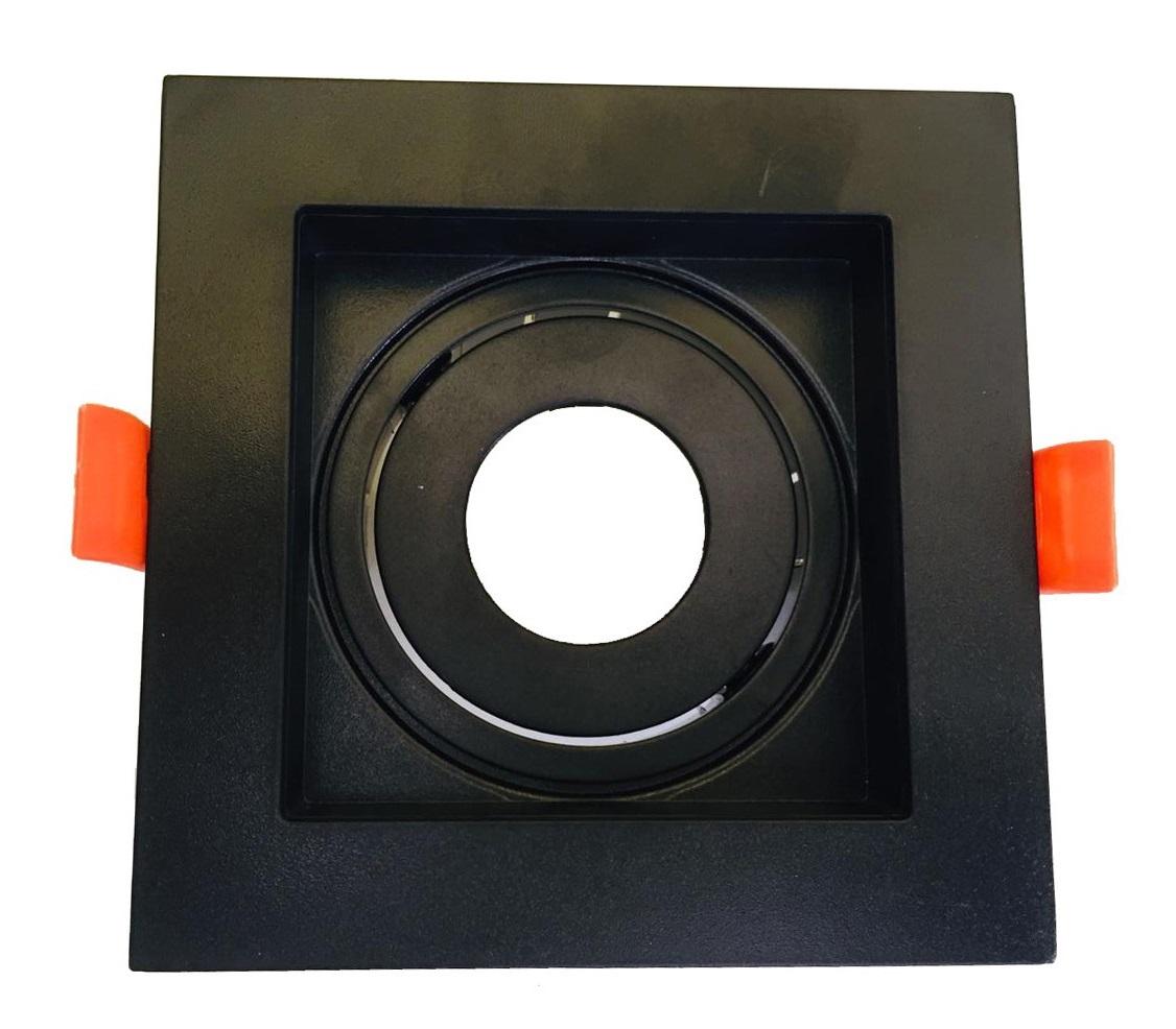 Spot Embutir MR11 Quadrado Recuado Preto