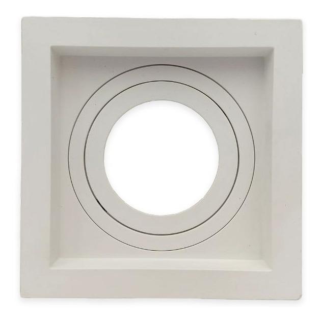 Spot Embutir Par20 Quadrado Branco Recuado - Opus