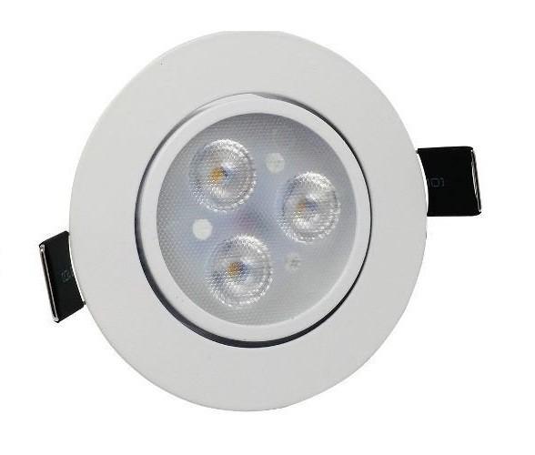 Spot LED 3w Redondo Embutir 6500k