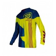 Camisa ASW Aero Sport Wear Racing Development Azul/Amarelo