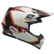 Capacete Bell Moto-9 Preto/Branco
