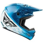 Capacete Fly Racing Kinetic k120 Azul/Branco