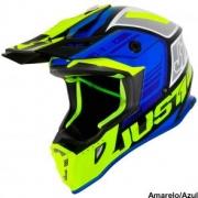 Capacete Just 1 J38 Blade Azul/Neon