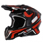 Capacete Mattos Racing Mx Combat MTR 2 Vermelho