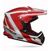 Capacete Mattos Racing MX Pro Vermelho/Branco