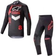 Conjunto Calça + Camisa Alpinestars Fluid Chaser 2021 Vermelho