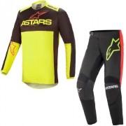 Conjunto Calça + Camisa Alpinestars Fluid Tripple Neon