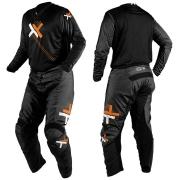 Conjunto Calça + Camisa Mattos Racing Atomic Preto/Laranja