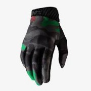 Luva 100% Ridefit Gloves Black Camo
