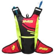 Mochila de Hidratação IMS Racing Preta/Vermelha/Verde Fluor