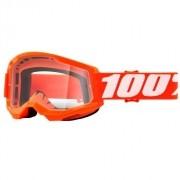 Óculos 100% Strata 2 Laranja Clear