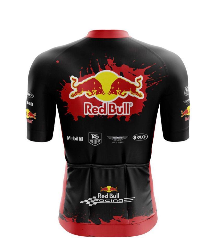 Camisa Ciclismo Red Bull Black