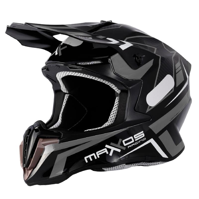 Capacete Mattos Racing Mx Combat MTR 2 Cinza