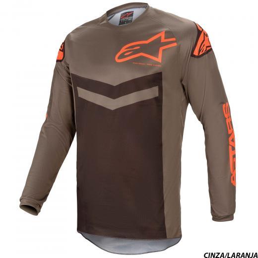 Conjunto Calça + Camisa Alpinestars Fluid Speed 2021 Cinza/Laranja