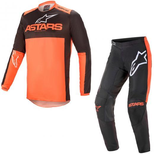 Conjunto Calça + Camisa Alpinestars Fluid Tripple 2021 Laranja