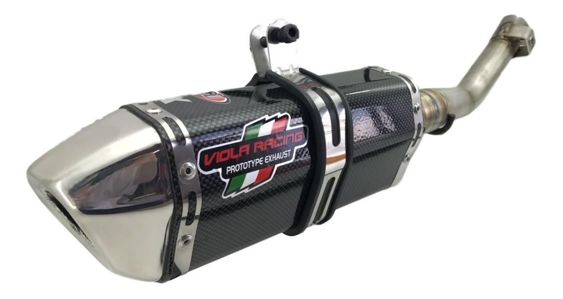 Ponteira + Curva Crf230 Viola Racing Ms1 Carbono