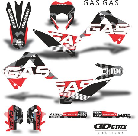 Kit Gráfico 3m Motos Gas Gas Off-Road