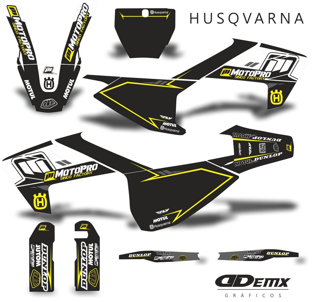 Kit Gráfico 3m Motos Husqvarna Off-Road