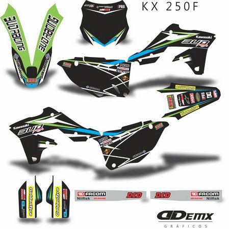 Kit Gráfico 3m Motos Kawasaki Off-Road