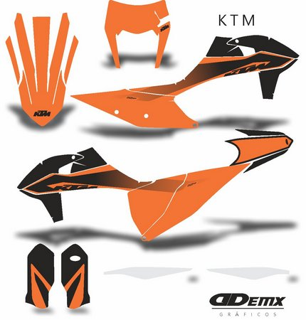 Kit Gráfico 3m Motos Ktm Off-Road