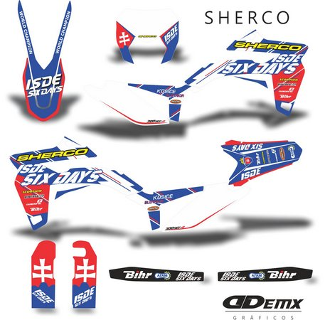 Kit Gráfico 3m Motos Sherco Off-Road