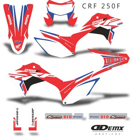 Kit Gráfico Motos Honda Off-Road