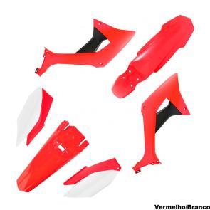 Kit Plástico Crf250f Biker Evo Vermelho/Branco