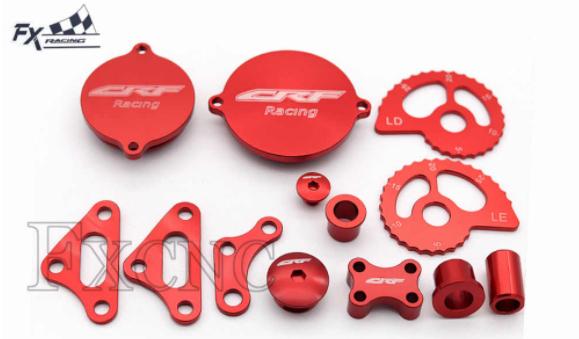 Kit  Aluminio CRF230 FX Racing Vermelho
