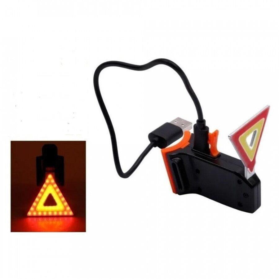 Lanterna Traseira Trianglo Usb Stn
