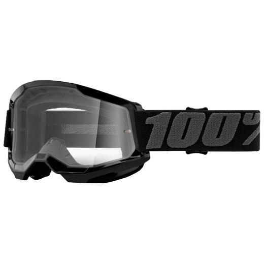 Óculos 100% Strata 2 Black Transparente