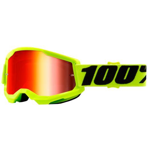 Óculos 100% Strata 2 Neon Espelhado