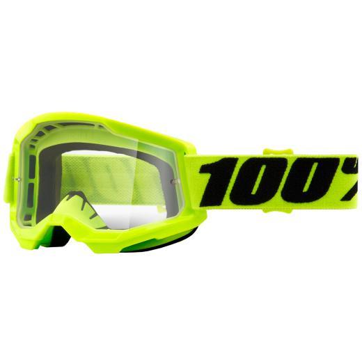 Óculos 100% Strata 2 Neon Clear