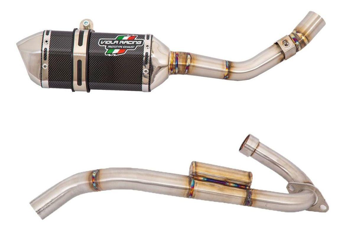 Ponteira + Curva Crf250f Viola Racing Ms1 Carbono