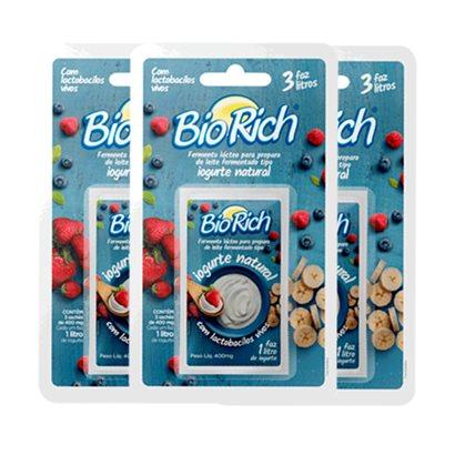 01 Dessorador para Iogurte (Ideal para preparo de Iogurte Grego) + 09 Fermentos BioRich