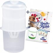 01 Dessorador para Iogurte (Ideal para preparo de Iogurte Grego) + Livro de Receitas (Brinde)