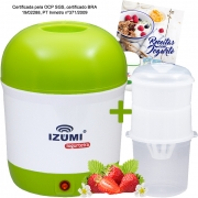 01 Iogurteira Elétrica Verde + 01 Dessorador + Livro de Receitas (Brinde)
