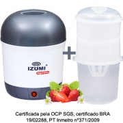 01 Iogurteira Elétrica Bivolt Cinza + 01 Dessorador