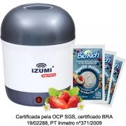 01 Iogurteira Elétrica Bivolt Cinza + 15 Fermento Bio Rich