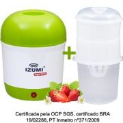 01 Iogurteira Elétrica Bivolt Verde + 01 Dessorador