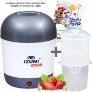 01 Iogurteira Elétrica Cinza + 01 Dessorador + Livro de Receitas (Brinde)