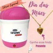Iogurteira Elétrica Rosa (Dia das Mães) + Correntinha de Brinde