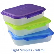 Kit com 03 Marmit. Light - Simples (roxo, verde, azul)