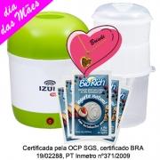 Kit Mãe Iogurteira Verde + 01 Dessorador + 03 Fermentos Bio Rich®