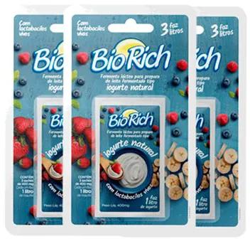 24 Fermentos Bio Rich (R$ 5,40 cada) - Val.: 14/09/2021