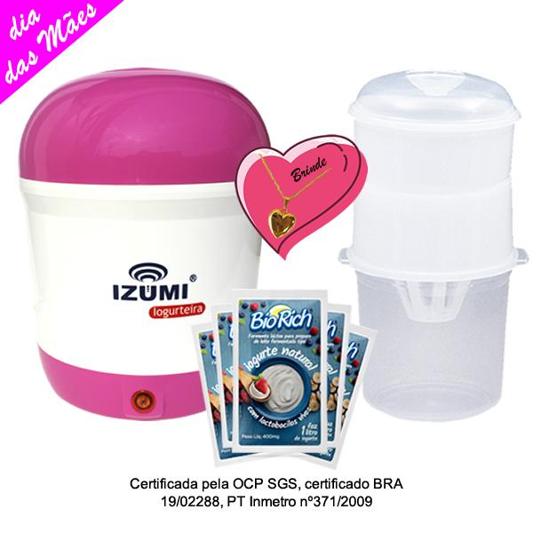 Kit Mãe Iogurteira Rosa + 01 Dessorador + 03 Fermentos Bio Rich®