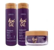 Cadiveu Açaí Oil Kit Trio Shampoo 250ml Condicionador 250ml Máscara 140g - P
