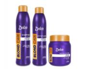 Detra Blond Care Shampoo 1Lt + Restore 1Lt + Máscara 500g Gde - R