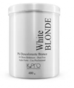 K Pro White Blonde Pó Descolorante Branco Dust Free 400g - R