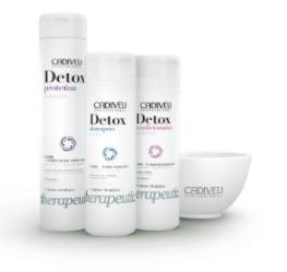 Cadiveu Detox Kit Home Care 3 produtos - DETOX Proteína 320ml DETOX Shampo 250ml Condicionador Detox 250ml - P